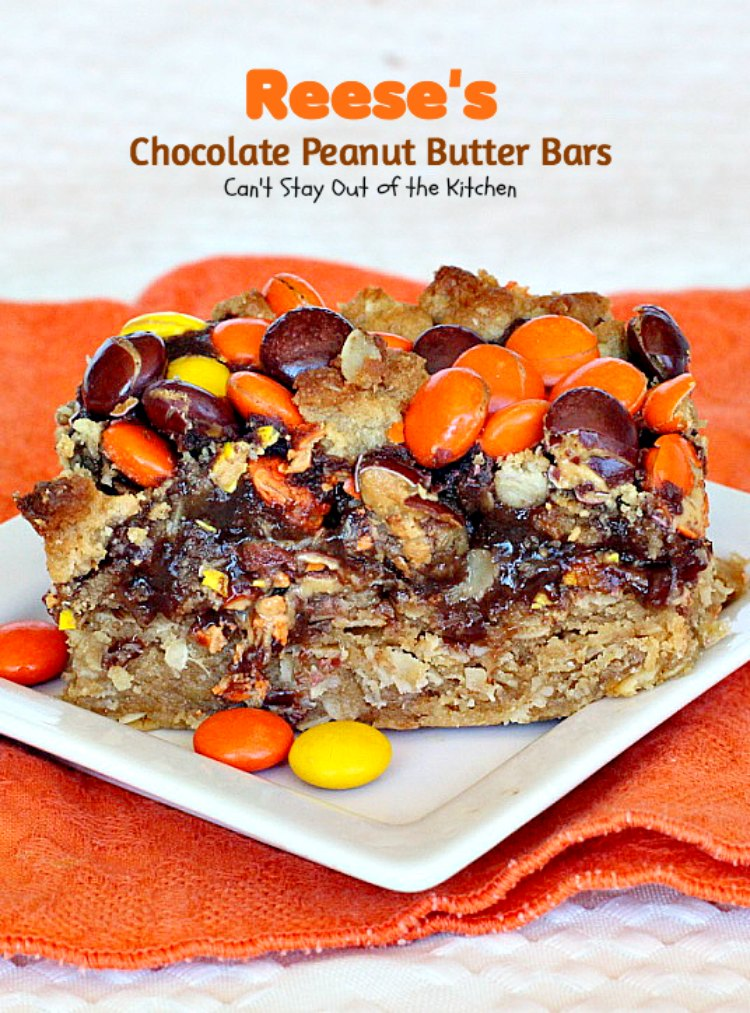 Reese's Chocolate Peanut Butter Bars | Can't Stay Out of the Kitchen ...