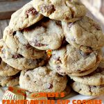 Reese's Peanut Butter Cup Cookies | Can't Stay Out of the Kitchen | these spectacular #cookies include miniature #ReesesPeanutButterCups. They explode with #chocolate & #PeanutButter flavors making them irresistible & heavenly. Wonderful #dessert for #tailgating parties, #holidays or potlucks. #dessert #ChocolateDessert #PeanutButterDessert #ReesesPeanutButterCupDessert #HalloweenCandy #ChristmasCookieExchange