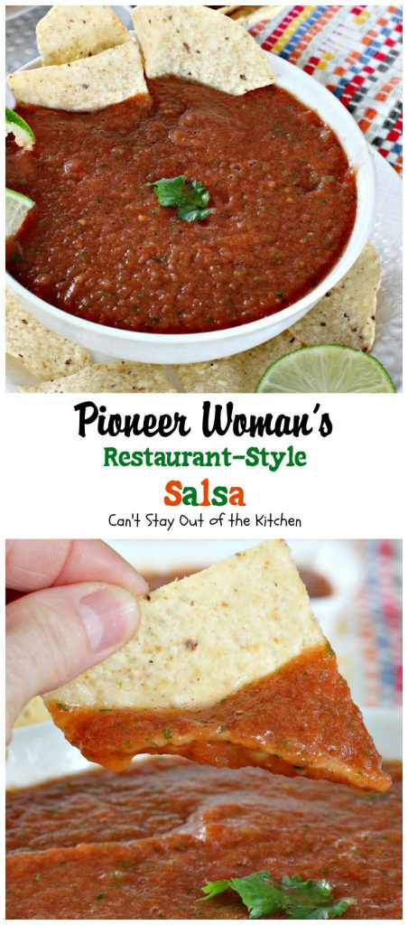 Pioneer Woman's Restaurant-Style Salsa | Can't Stay Out of the Kitchen