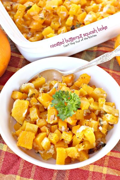 Roasted Butternut Squash Bake | Can't Stay Out of the Kitchen | we love, love love, this sumptuous #butternutsquash #casserole. This one adds #parmesancheese. #glutenfree