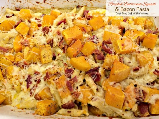 Roasted Butternut Squash and Bacon Pasta - IMG_9585