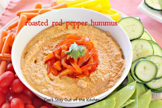 Roasted Red Pepper Hummus - IMG_1239