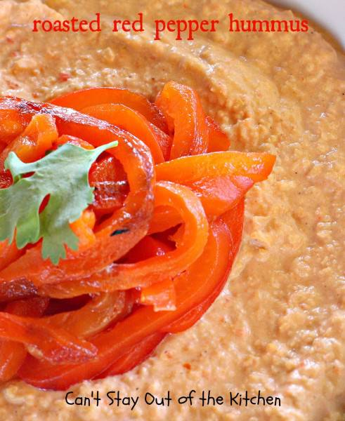 Roasted Red Pepper Hummus - IMG_1253