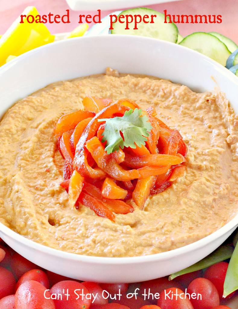 Roasted red pepper hummus can 39 t stay out of the kitchen for Roasted red bell pepper hummus