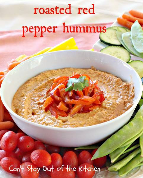 Roasted Red Pepper Hummus - IMG_1277