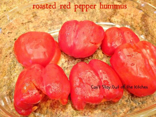 Roasted Red Pepper Hummus - IMG_6425