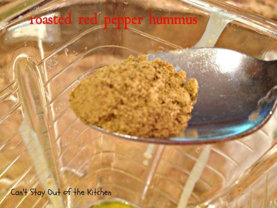 Roasted Red Pepper Hummus - IMG_6436