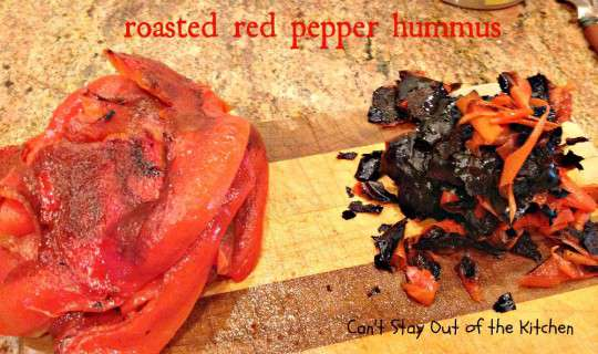 Roasted Red Pepper Hummus - IMG_6440