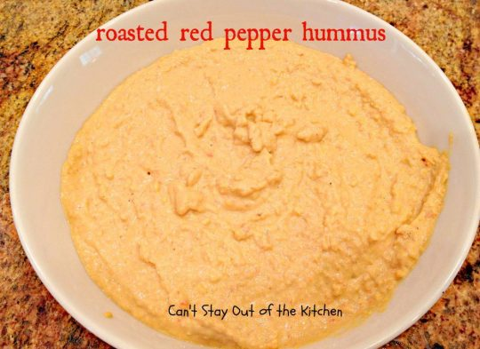 Roasted Red Pepper Hummus - IMG_6443