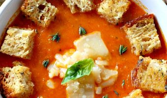 Roasted Tomato Garlic Soup