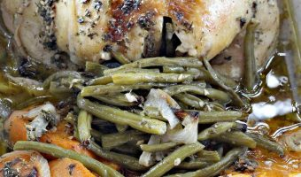 Rosemary-Garlic Chicken with Sweet Potatoes and Green Beans
