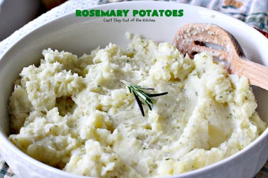 Rosemary Potatoes | Can't Stay Out of the Kitchen | quick and easy #sidedish with the wonderful flavors of #rosemary and parsley. Great for #holidays too. #glutenfree #potatoes