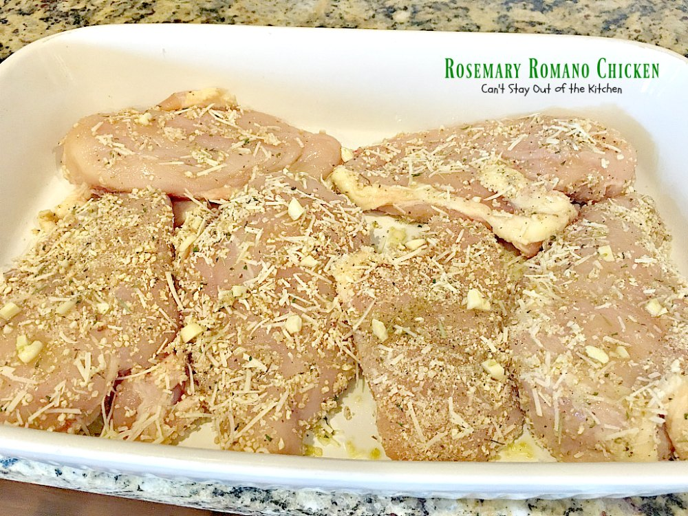 Rosemary Romano Chicken - Can't Stay Out of the Kitchen
