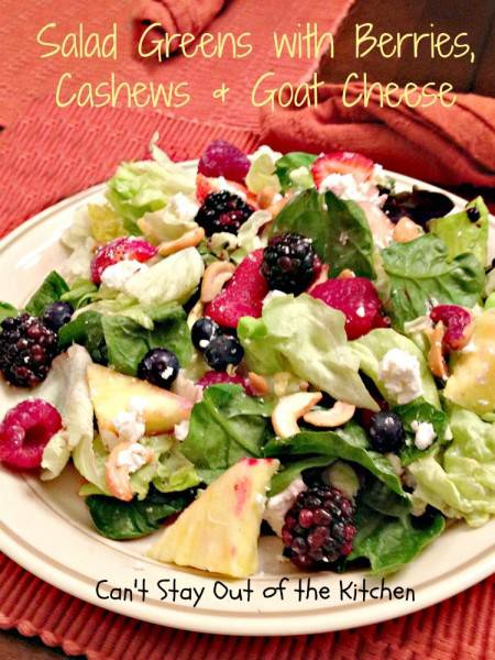 Salad Greens with Berries, Cashews and Goat Cheese - Recipe Pix 9 428.jpg.jpg