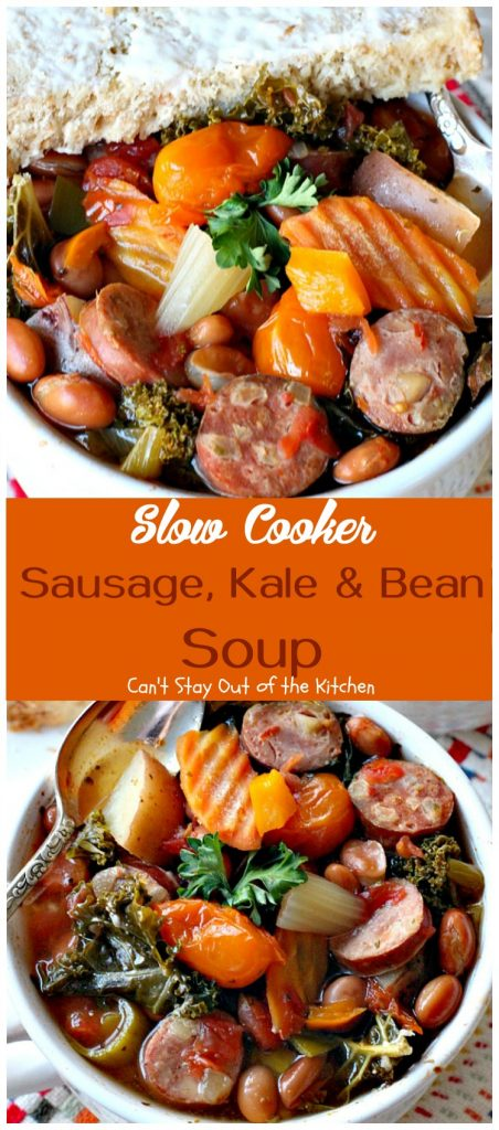 Sausage, Kale & Bean Soup | Can't Stay Out of the Kitchen