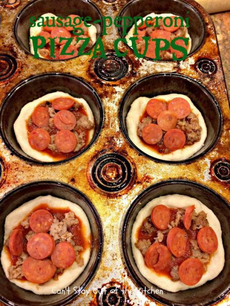 Sausage-Pepperoni Pizza Cups - IMG_5420