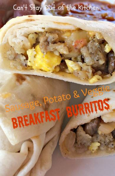 Sausage, Potato & Veggie Breakfast Burritos - IMG_7590.jpg