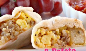 Sausage and Potato Breakfast Burritos