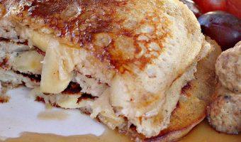 Sauteed Apple and Sausage Pancakes