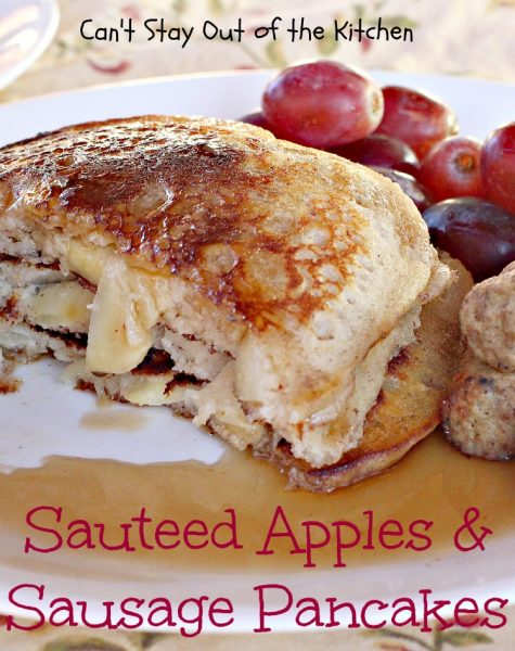 Sauteed Apples & Sausage Pancakes | Can't Stay Out of the Kitchen
