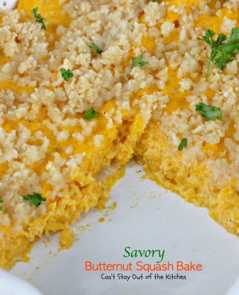 Savory Butternut Squash Bake | Can't Stay Out of the Kitchen | this awesome #casserole is a great way to use #butternutsquash. Great #holiday #sidedish.