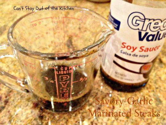 Savory Garlic Marinated Steaks - IMG_6679