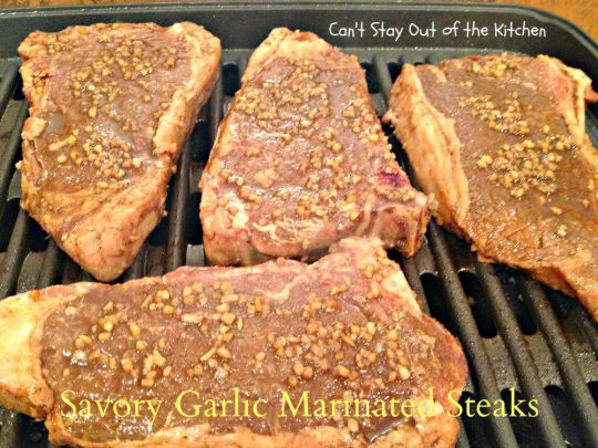 Savory Garlic Marinated Steaks - IMG_6691