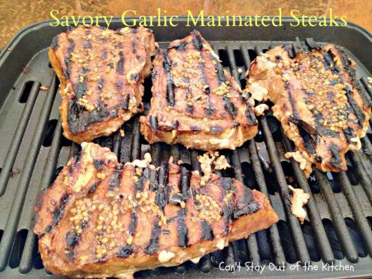 Savory Garlic Marinated Steaks - IMG_6692