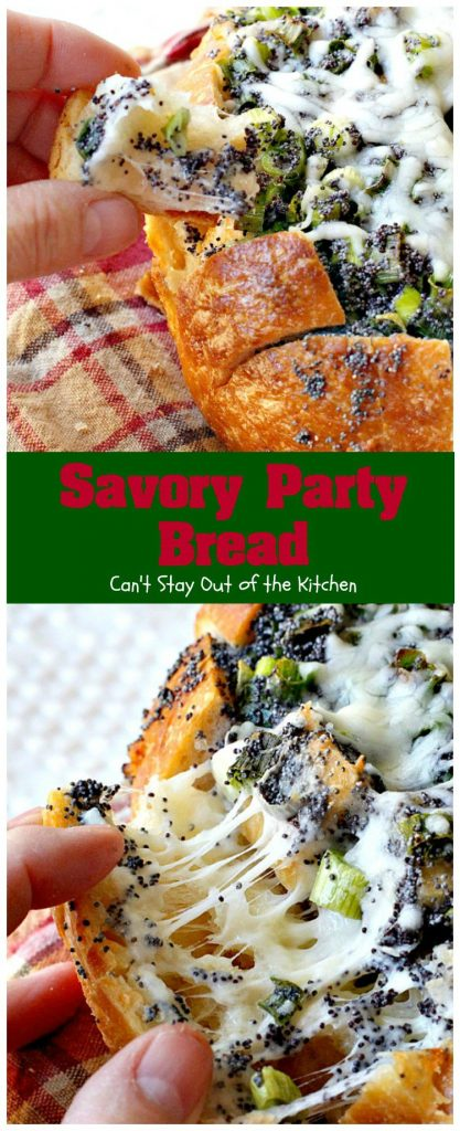 Savory Party Bread | Can't Stay Out of the Kitchen