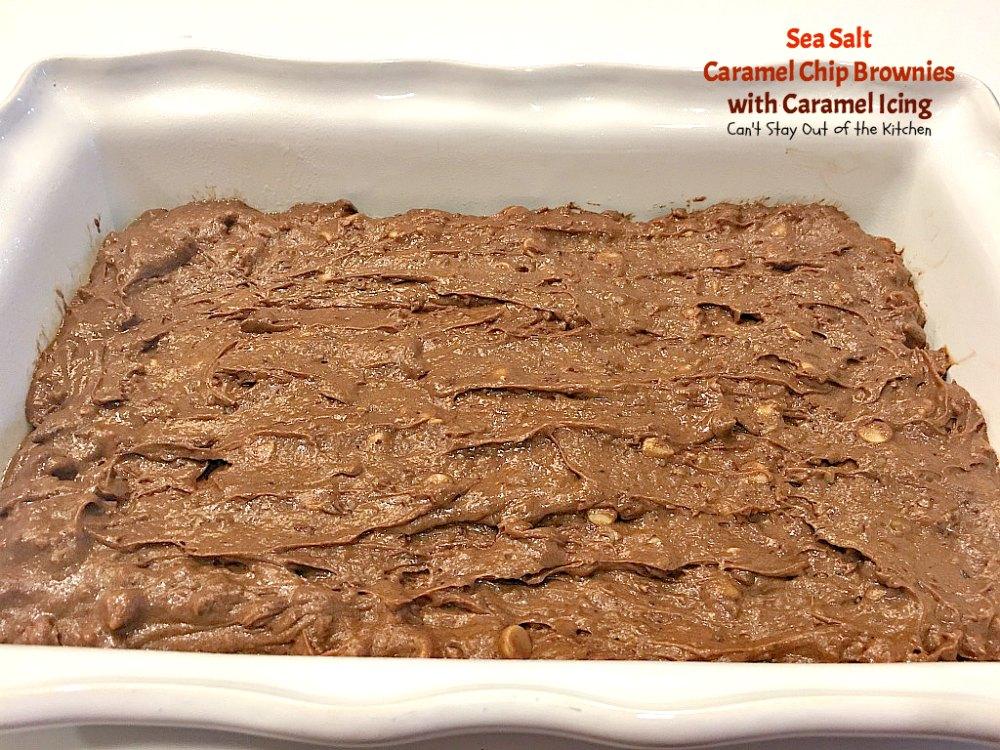 Sea Salt Caramel Chip Brownies with Caramel Icing - Can't ...