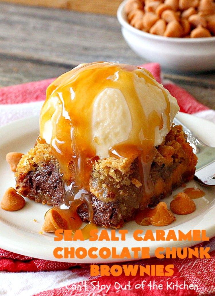 Sea Salt Caramel Chocolate Chunk Brownies