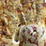 Seasoned Mashed Potatoes | Can't Stay Out of the Kitchen | this easy & delicious #sidedish is one of our favorite ways to enjoy #potatoes. The seasonings dress up #RedPotatoes in a fantastic way. Terrific for #holiday, company or family menus. #SeasonedMashedPotatoes #GlutenFree #MashedPotatoes #casserole #GlutenFreeSideDish #HolidaySideDish #EasterSideDish