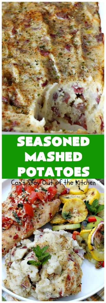 Seasoned Mashed Potatoes | Can't Stay Out of the Kitchen