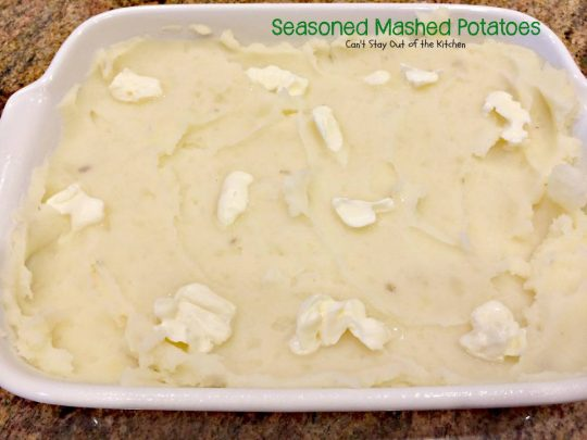 Seasoned Mashed Potatoes | Can't Stay Out of the Kitchen | quick, easy and tasty #sidedish that's great for company dinners or #holidays. #glutenfree #potatoes