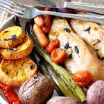 Sheet Pan Chicken and Vegetables with Herb Vinaigrette   Can't Stay Out of the Kitchen   this amazing one-dish meal has a delicious herb Vinaigrette baked into the #chicken & #vegetables. Easy & delicious. #glutenfree