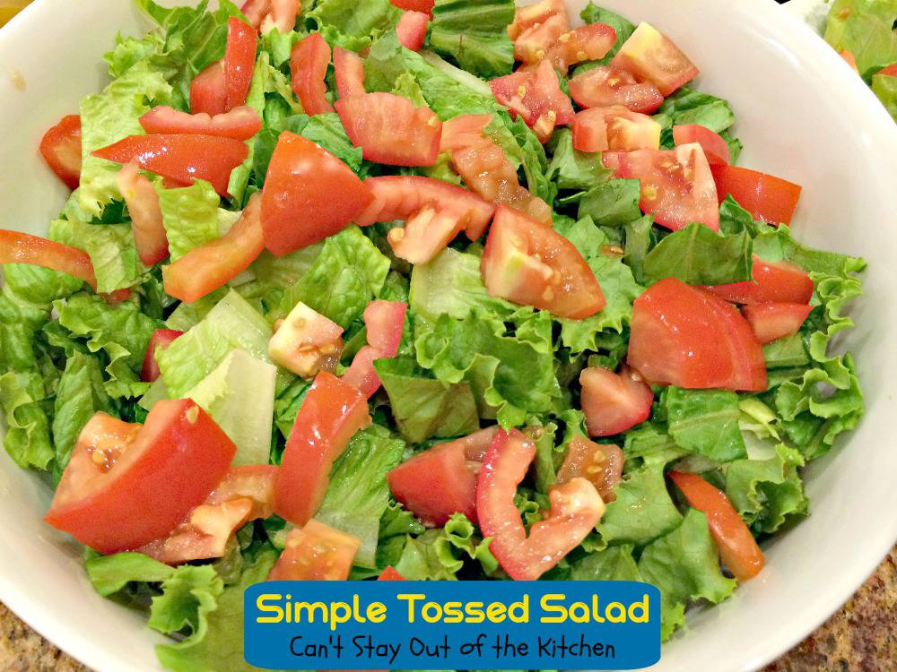 Simple Tossed Salad Can T Stay Out Of The Kitchen Tasty