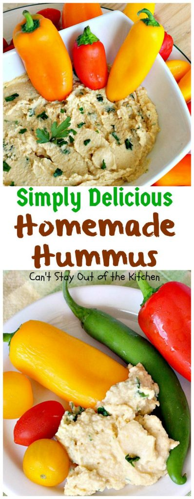 Simply Delicious Homemade Hummus | Can't Stay Out of the Kitchen