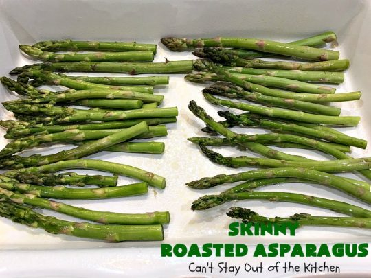 Skinny Roasted Asparagus | Can't Stay Out of the Kitchen | Wow this 6-ingredient #recipe is something special! #Asparagus made this way is heavenly. It uses a 6-cheese blend that's fantastic. Terrific for company or #holiday dinners. #Healthy, #LowCalorie & #GlutenFree. #ItalianCheeseBlend #SkinnyRoastedAsparagus #HolidaySideDish #MothersDay #FathersDay