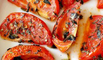 Skinny Roasted Vine-Ripe Tomatoes
