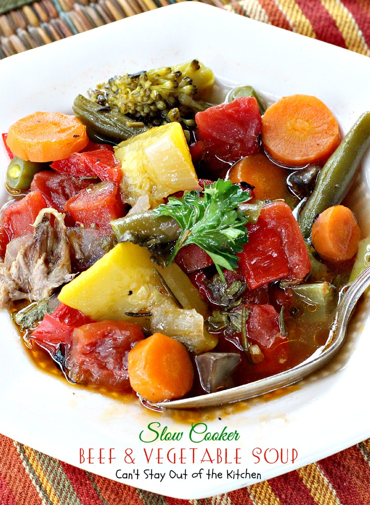 Slow Cooker Beef And Vegetable Soup Can T Stay Out Of The Kitchen