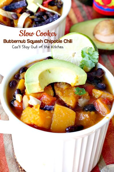 Slow Cooker Butternut Squash Chipotle Chili - Can't Stay ...