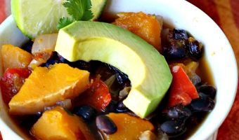 Slow Cooker Butternut Squash Chipotle Chili