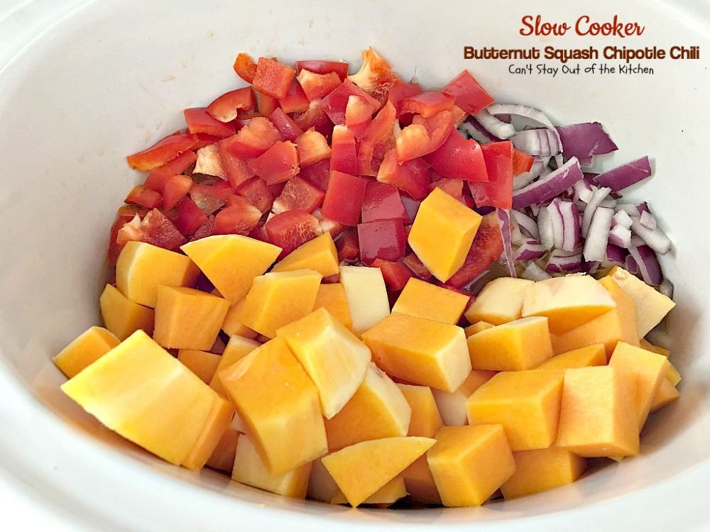 Spicy Butternut Squash Soup With Black Beans, Red Bell Pepper, And ...