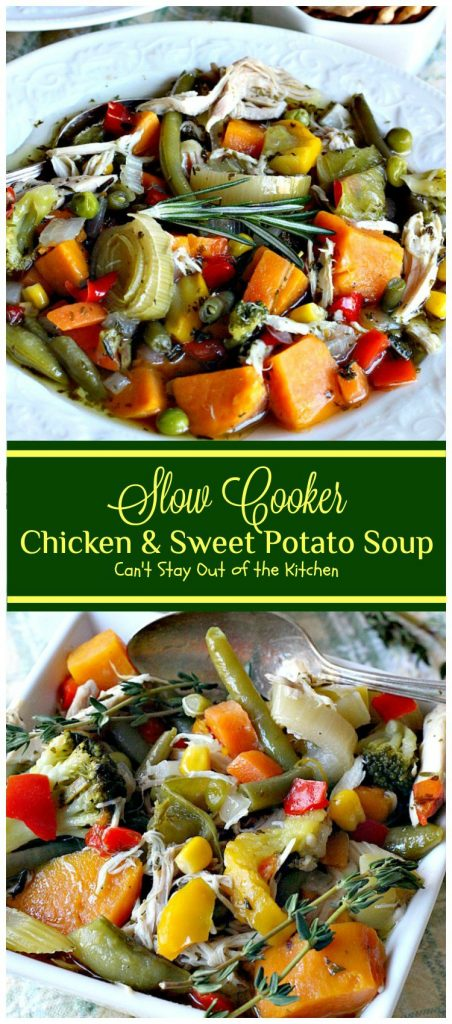 Slow Cooker Chicken and Sweet Potato Soup | Can't Stay Out of the Kitchen