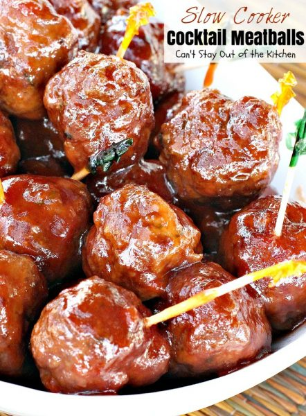 Slow Cooker Cocktail Meatballs | Can't Stay Out of the Kitchen