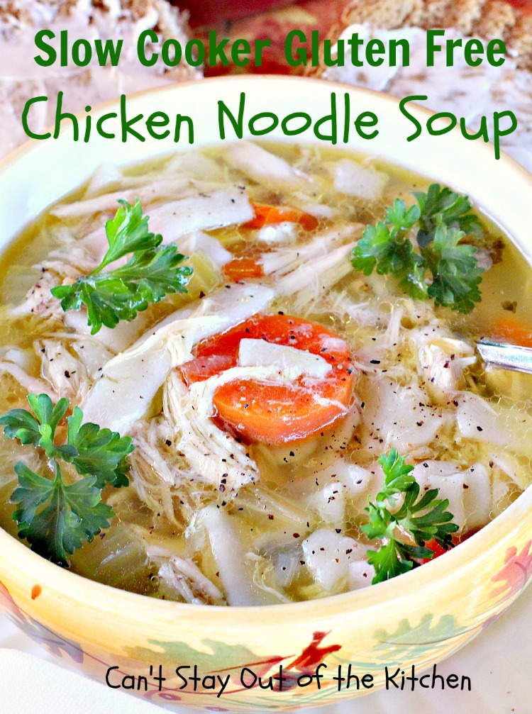 Crockpot Gluten Free Turkey Noodle Soup Can T Stay Out