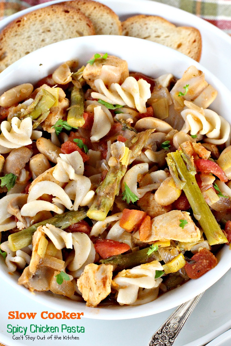 Slow Cooker Spicy Chicken Pasta | Can't Stay Out of the Kitchen ...