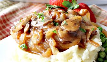 Smothered Salisbury Steak with Mushroom Onion Gravy