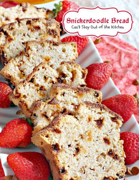 Snickerdoodle Bread | Can't Stay Out of the Kitchen | this amazing #sweetbread tastes like #snickerdoodle #cookies but in #bread form! Great for a #holiday #breakfast. #dessert
