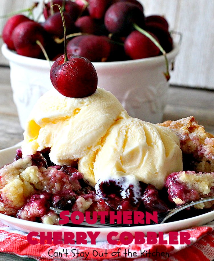 Southern Cherry Cobbler